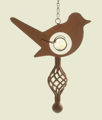 Windspiel Vogel Hänger mit Kette und Glaskugel