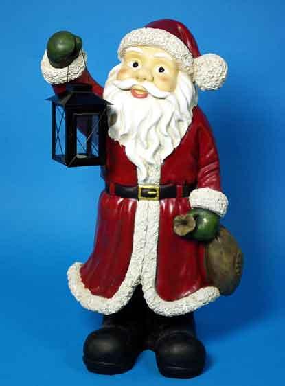 weihnachtsmann nikolaus mit laterne gro 80 nur eur. Black Bedroom Furniture Sets. Home Design Ideas