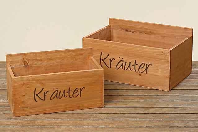Pflanztopf KRÄUTER Holz 2er-Set (583910)
