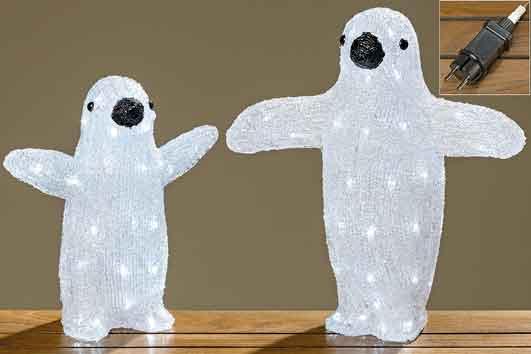 Acryl Pinguin 30 cm LED Beleuchtung (833680)