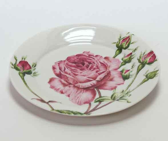 Dessertteller Rose Porzellan (V10807)