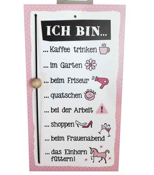 Schild Schiebeschild für Frauen witzig (G46835)