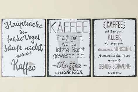 schild kaffee mit witzigem spruch 40x30 cm 713630 nur eur. Black Bedroom Furniture Sets. Home Design Ideas