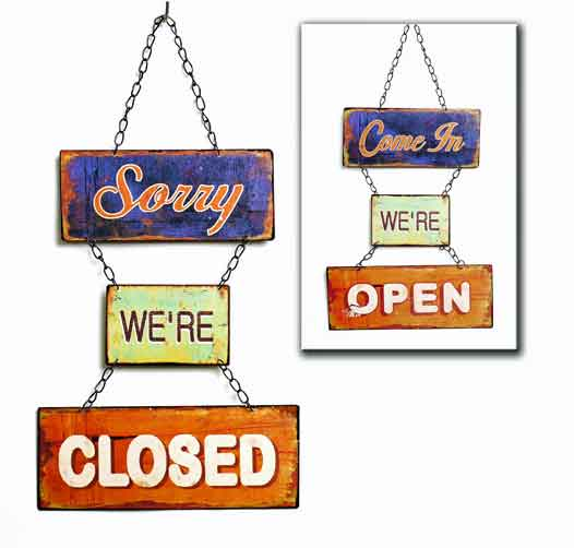 Schild Open/Closed 49 x 25 cm (932355)