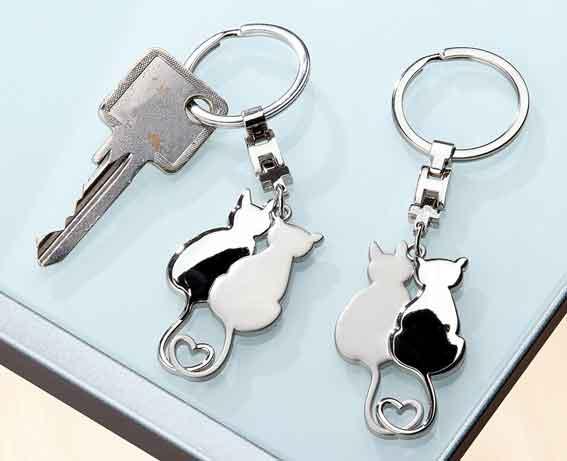 Schlüsselanhänger zwei Katzen (G51087)