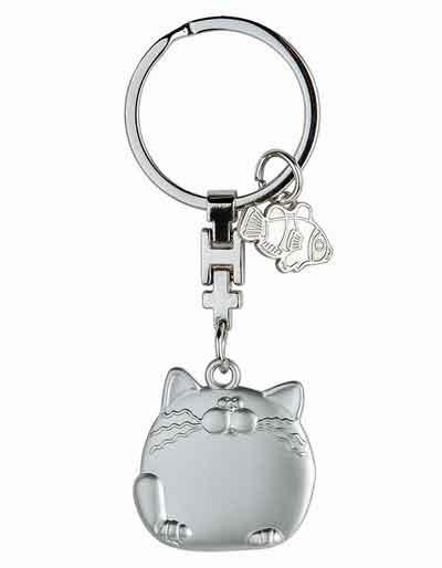 Schlüsselanhänger Fette Katze witzig (G51129)