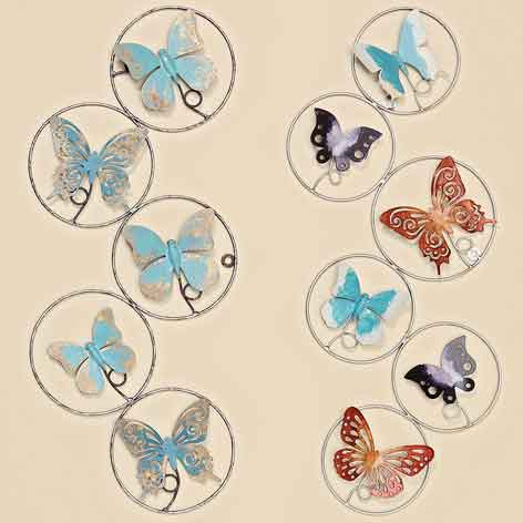 Wanddeko Schmetterling 61 cm (350260) Wandschmuck Metall