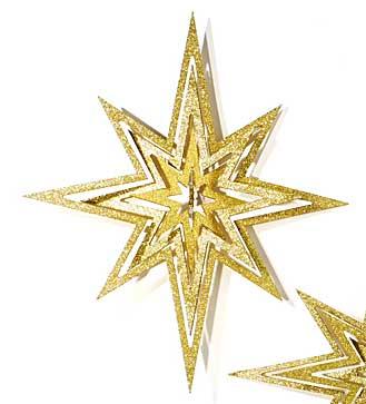 Stern Holz gold zum Hängen 59 cm (966174)