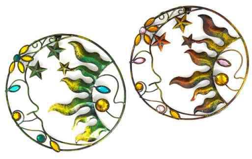 Wanddeko SONNE Wandbild Metall 20 cm (921413)