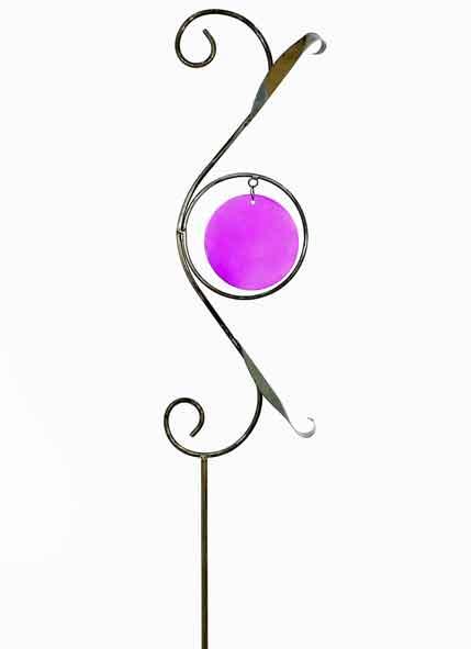 Gartenstecker Metall / Glas 180 cm (919749)
