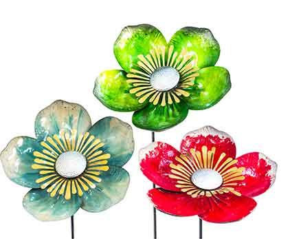 Gartenstecker Blume Metall (923108)