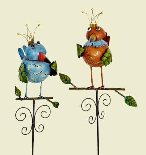 Gartenstecker Vogel bunt (920484)