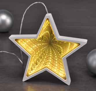 LED Stern 3D Spiegeleffekt Fensterbeleuchtung (76829)