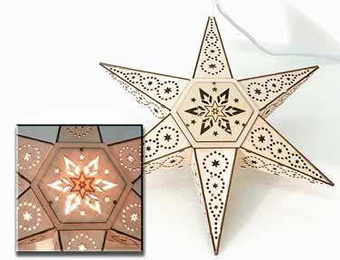 Fensterbeleuchtung Weihnachten Led.Led Stern Holz 30 Cm Fensterbeleuchtung 961048