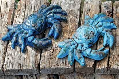 Terrakotta Blau Krabbe (763660)