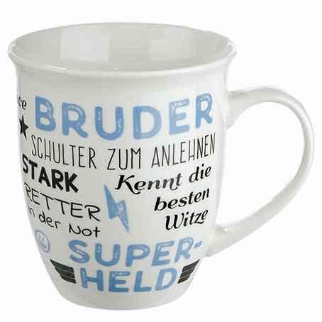 Kaffeebecher Tasse Jumbobecher Bruder mit Sprüchen (G49629)