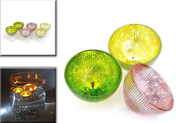 Teelichthalter schwimmend Glas 2er-Set 8,5 cm (972597)