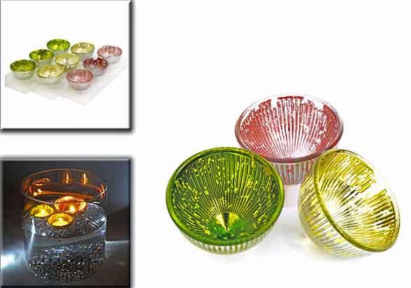 Teelichthalter schwimmend Glas 3er-Set 6,5 cm (972598)