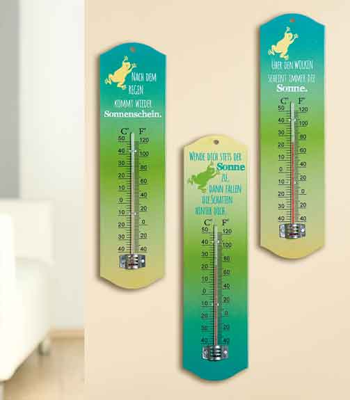 Thermometer Metall mit Spruch (G44439)