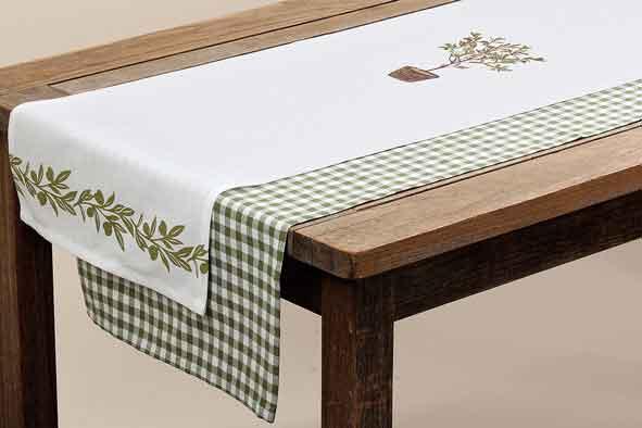 Tischläufer Olive 140 x 40 cm (239150)