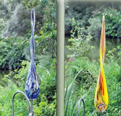 Glas Twist 50 cm auf Stab mundgeblasen (15000)