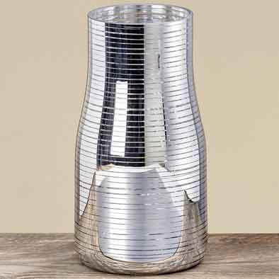 Vase Juno Glas silber 26 cm (388150)