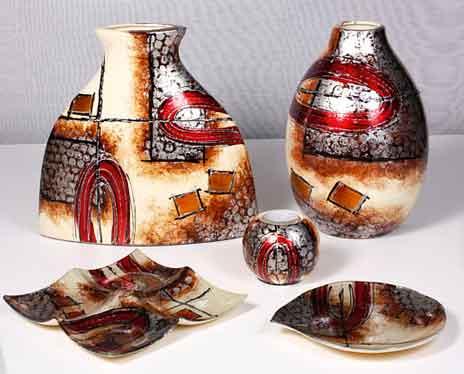 Teller Glas Deko Schale Andromeda 19 cm rund (S550013)