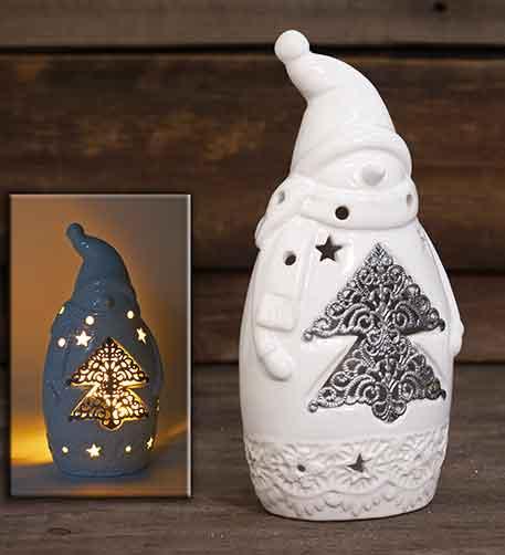 Windlicht Schneemann Keramik (966414)