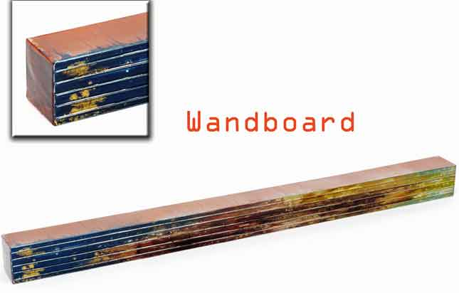 Wandboard wandregal blau braun gr n 110 cm 923157 nur - Wandregal braun ...