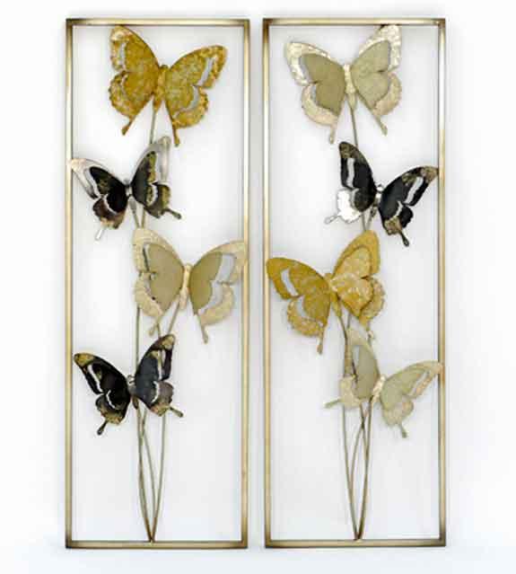 Wanddeko Schmetterling Metall 90 cm (916957)
