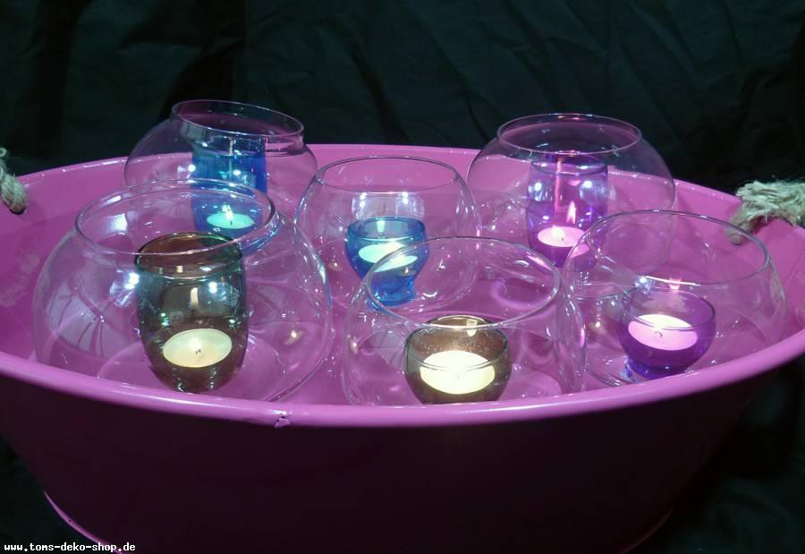 Teelichthalter schwimmend Glas 12 cm (8209.a)