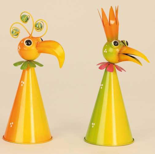 Zaunhocker Vogel Metall (5064I)